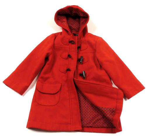 Červený tvídový zimní jarní kabát George 4138700a71